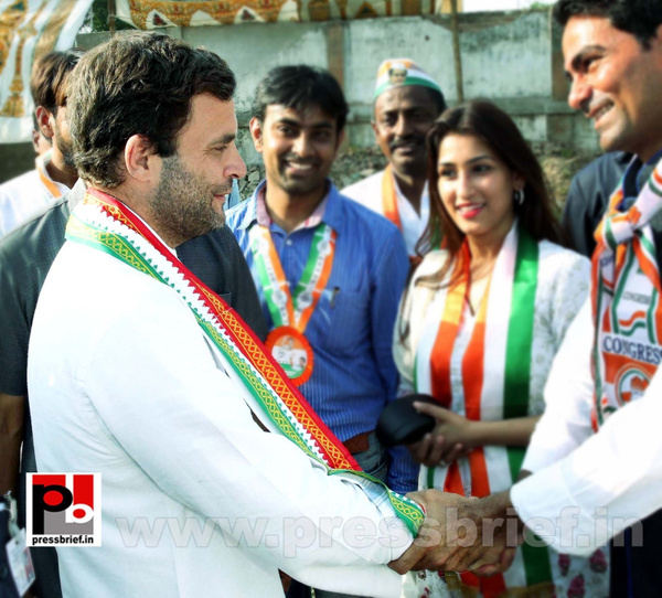 Rahul Gandhi addresses rally in Allahabad (9) by...
