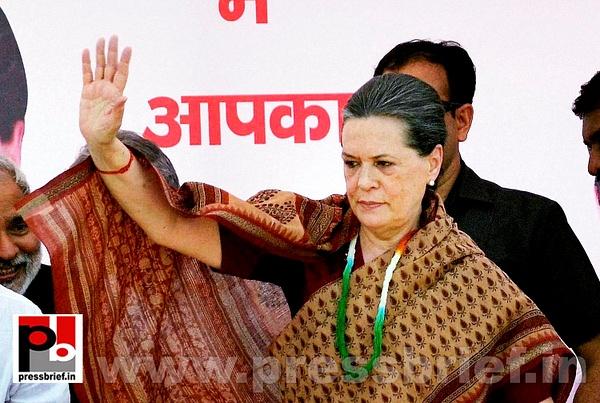 Sonia Gandhi in Muzaffarpur, Bihar (1) by Pressbrief In