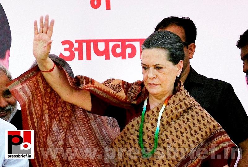 Sonia Gandhi in Muzaffarpur, Bihar (1)