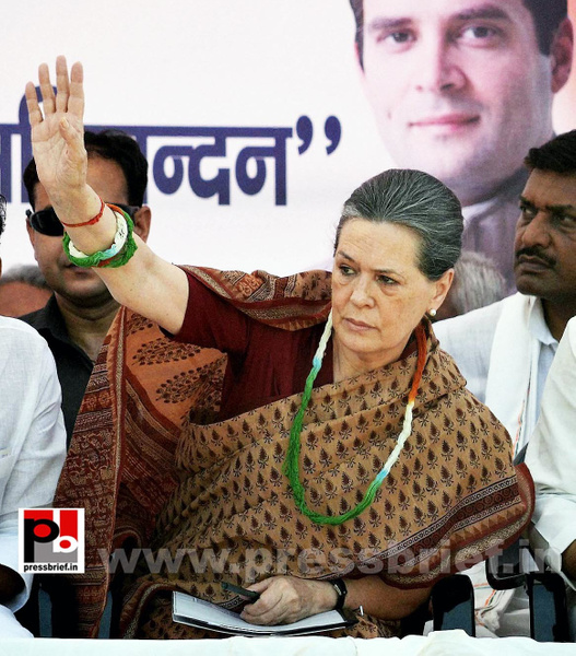 Sonia Gandhi in Muzaffarpur, Bihar (2) by Pressbrief In