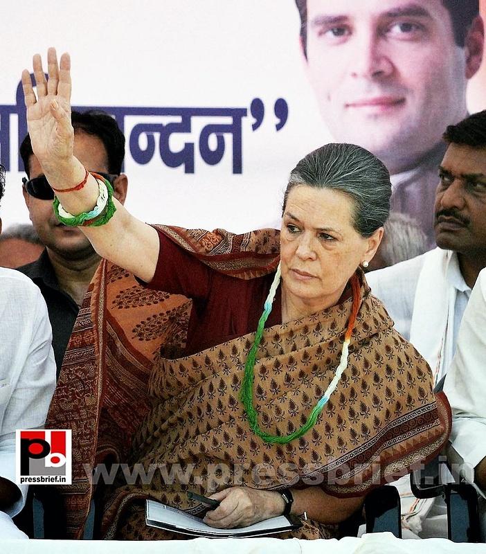 Sonia Gandhi in Muzaffarpur, Bihar (2)