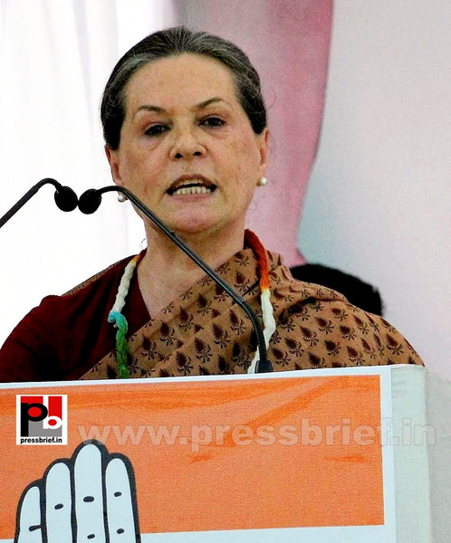 Sonia Gandhi in Muzaffarpur, Bihar (3) by Pressbrief In