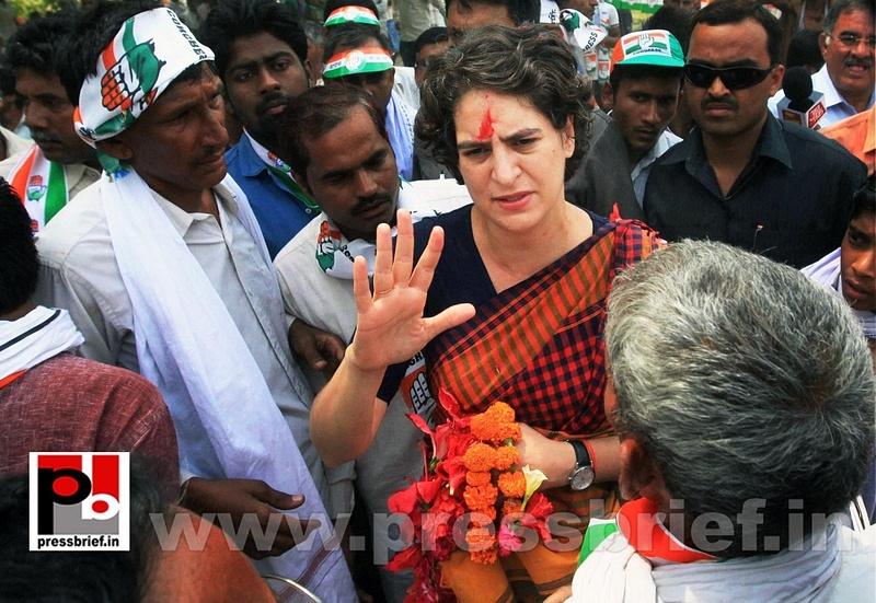 Charismatic Priyanka Gandhi in Amethi (2)