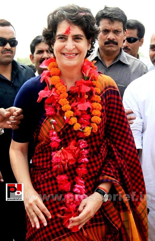 Charismatic Priyanka Gandhi in Amethi (1)