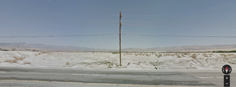 Desert Roadway outside of Escena Golf Course