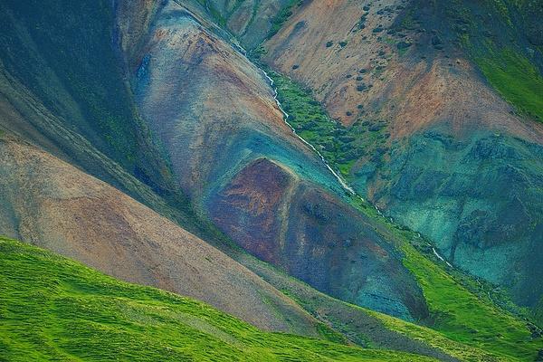 Colorful hillside - Iceland - Tony Sweet