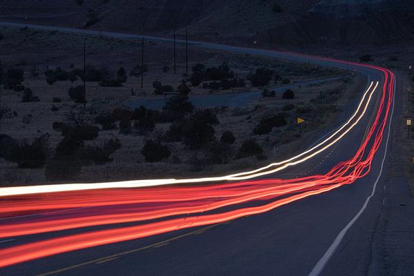 traffic trails - Santa Fe, NM - Tony Sweet
