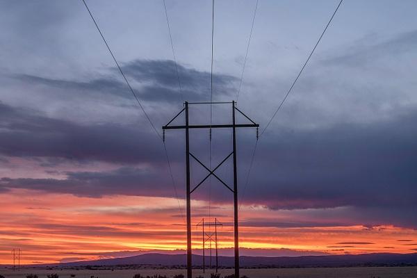 power lines sunset - Santa Fe, NM - Tony Sweet