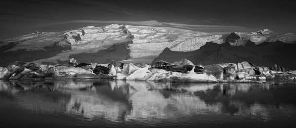 Glacial Lagoon, Iceland - Stitched pans - Tony Sweet