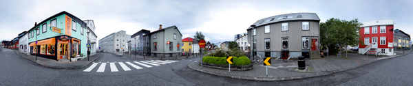 downtown Reykjavik, Iceland - Stitched pans - Tony Sweet