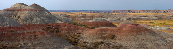 Badlands NP, SD - Stitched pans - Tony Sweet