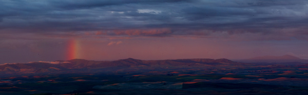 Palouse rainbow, WA - Stitched pans - Tony Sweet