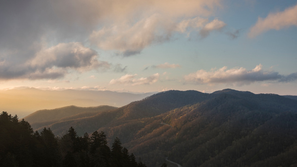 Newfound Gap dawn - Great Smoky Mountains, TN - Tony Sweet
