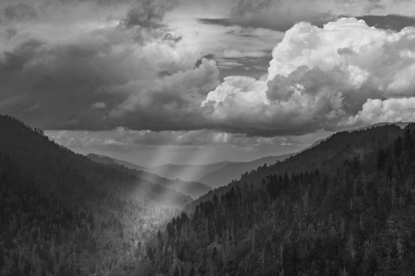God rays at Morton Overlook - Great Smoky Mountains, TN - Tony Sweet