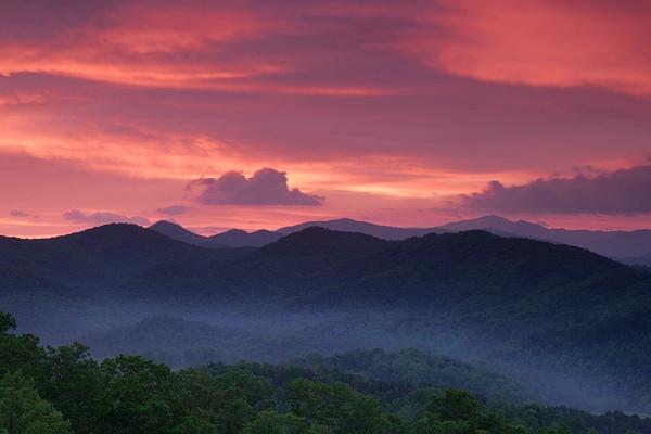Footfhils Pkwy dawn - Great Smoky Mountains, TN - Tony Sweet