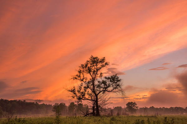 Passing storm at dusk