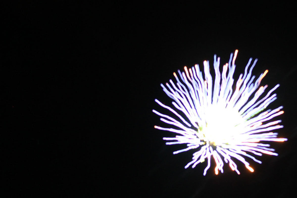 Fireworks by Jumonville Camp