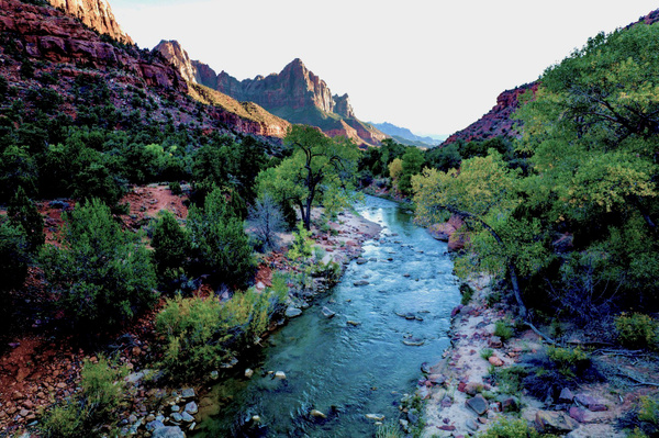 Drive through Zion Nat. Park by Hsiebert by Hsiebert