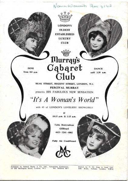 murrayscabaret1963 by Stuart Alexander Hamilton