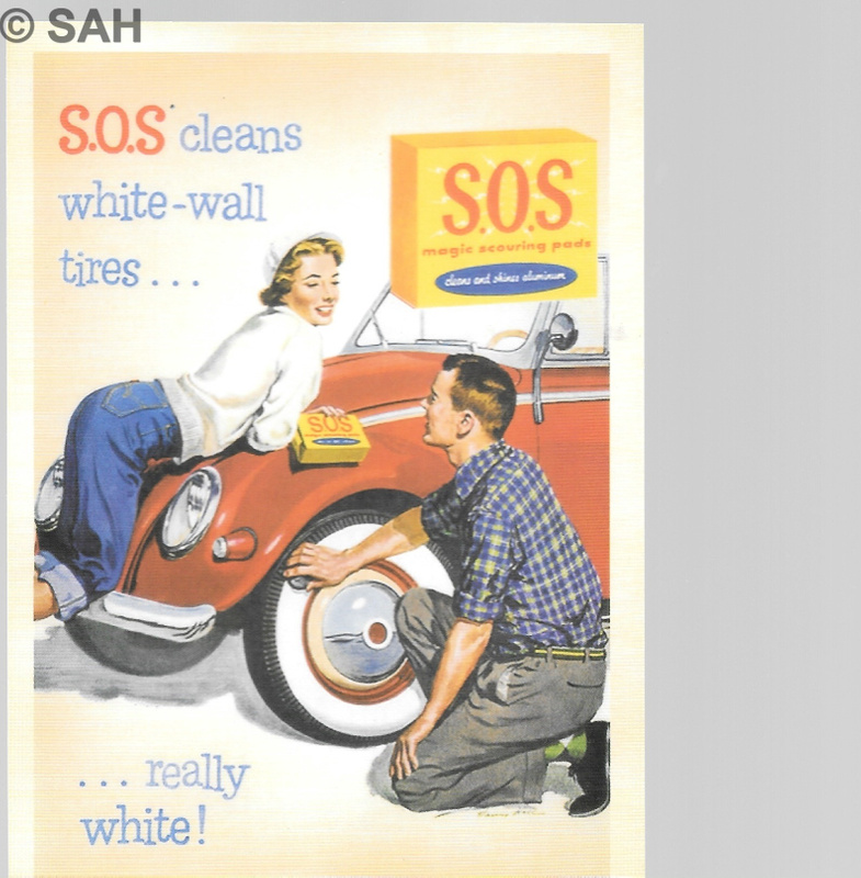 Retro advertising card