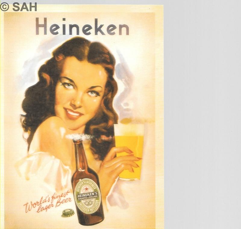 Retro advertising card