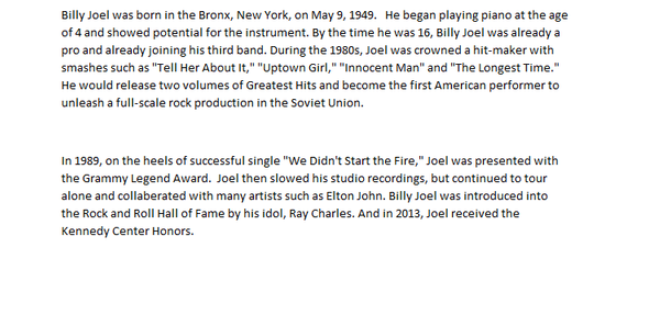 Billy Joel by ValerieSagun