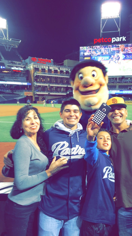 Padre game with Fam