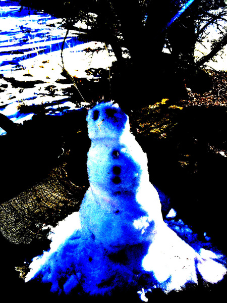 snowman blue by VanessaFrese