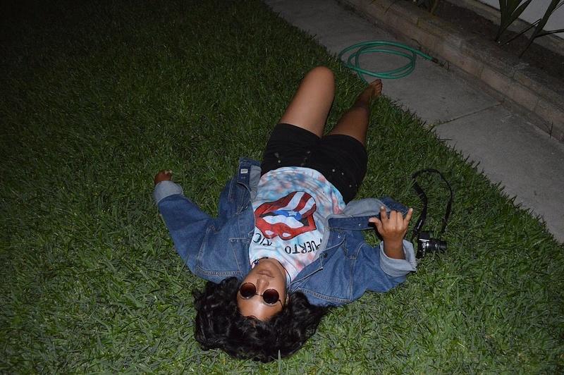 still on the grass