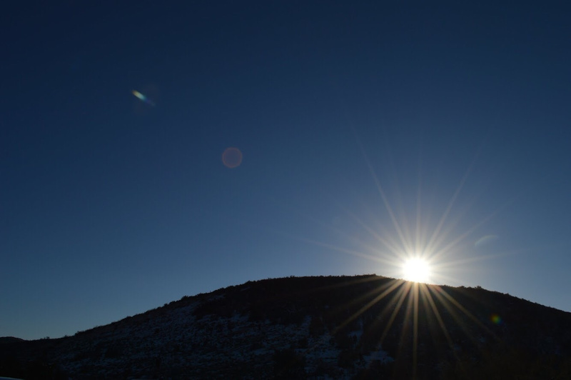 the mountain and sun