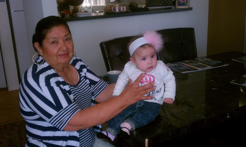 Grandma and little cousin