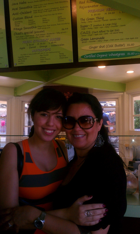 My sister and mom