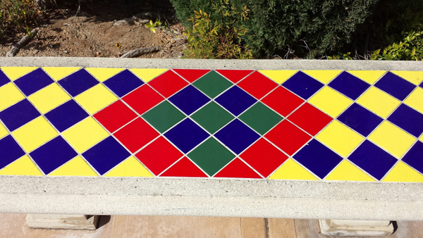 Colorful bench by Jose Martinez