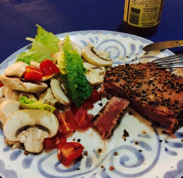 Steak & Mushrooms by AndresRuvalcaba