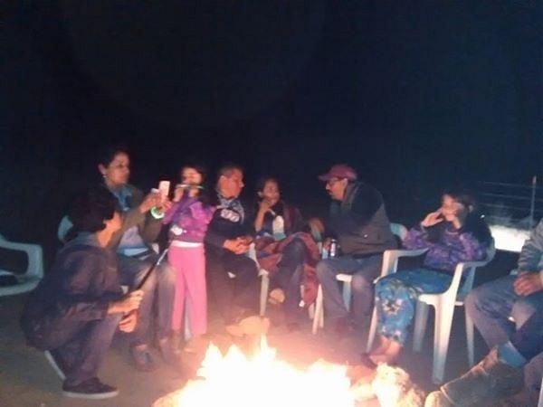 camp fire by AndresRuvalcaba