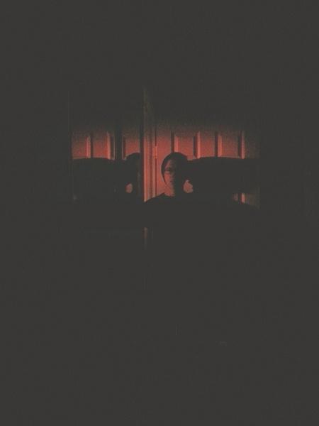 Dark Bathroom Selfie by EstebanAguilar