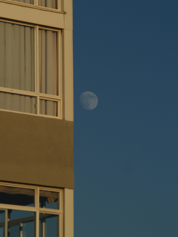 Man on a ledge or man on the moon