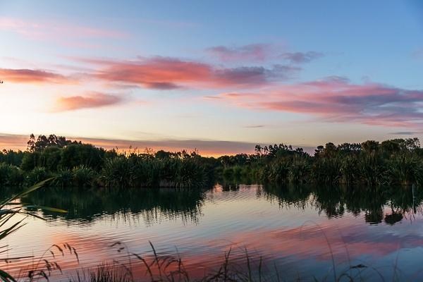 sunset reflection by SandyBrinsdon