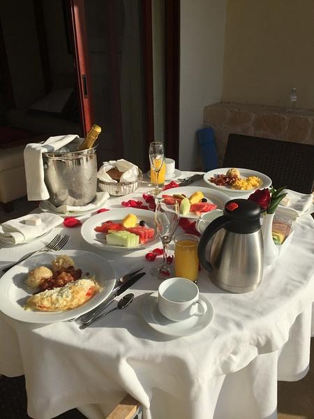 'Honeymoon' champagne breakfast room 2036 by JanieBac