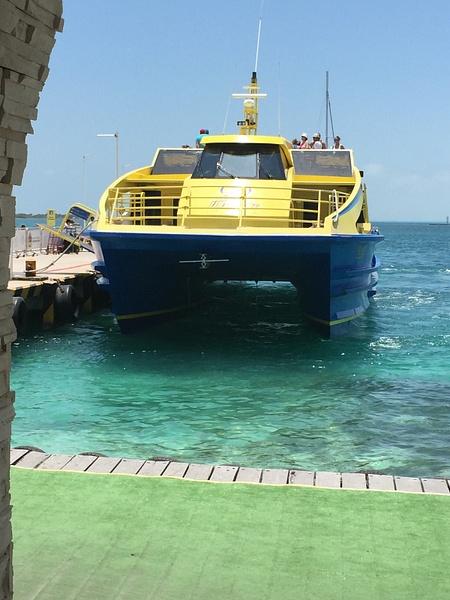 catamaran on return by JanieBac