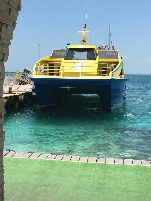catamaran on return