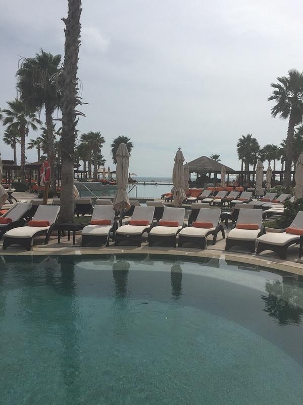View across pools