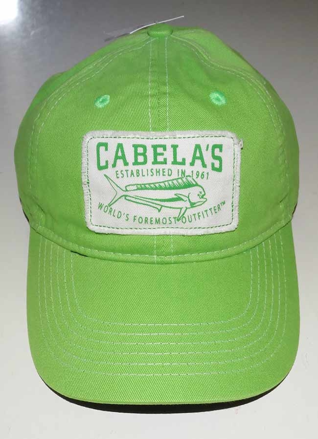 a1b064adca6 Bright fishing ball trucker cap from Cabela s. One size fits all via adjustable  velcro closure. New with original tag affixed.