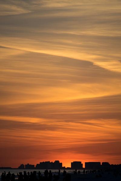 Cityscape sunset