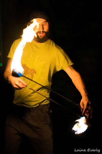 Firespinning 12/10/2015 by Elaine Everly