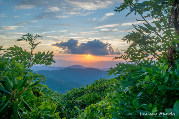 sunset at craggy pinnacle by Elaine Everly