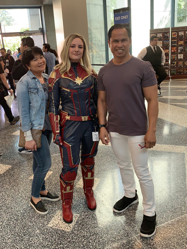 with Captain Marvel