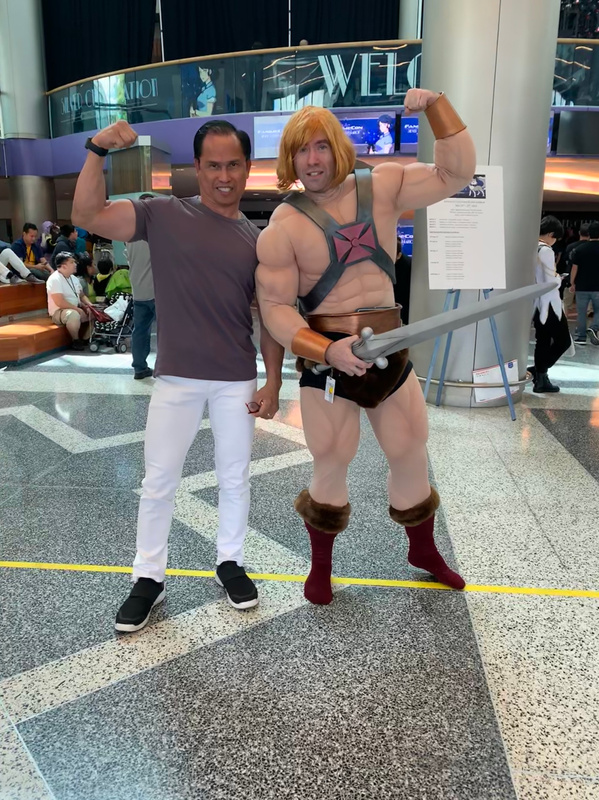 with Muscle Man