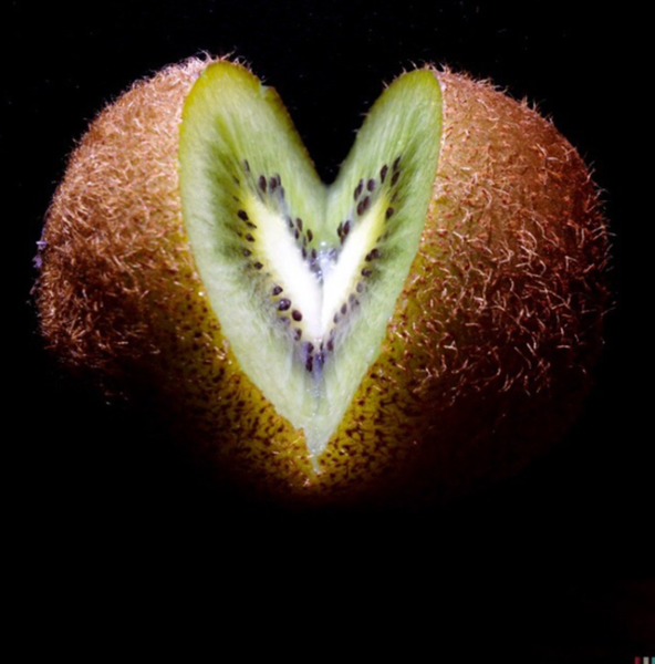 a slice of kiwi by Gabriel le Roux
