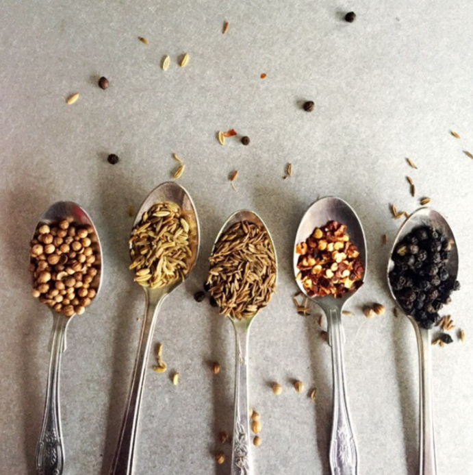 making spice mix